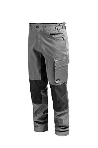 Greenpark Herren Arbeitshose Stretch, technische Männer Cargohose, Arbeit Schutzhose mit Taschen, Grau, M-3XXXL