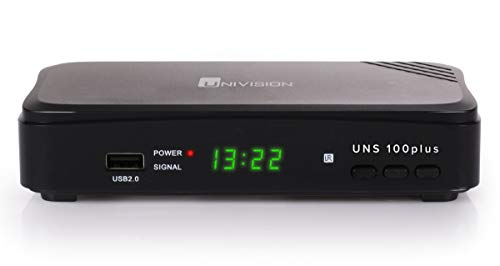 Univision UNS100+ digitaler Full HD Satelliten-Receiver DVB-S2 HDTV (HDMI, Scart, Display, USB 2.0, EPG, vorprogrammiert für Astra)