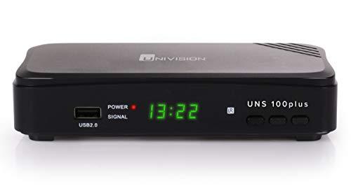 Univision UNS100+ digitaler Full HD Satelliten-Receiver DVB-S2 HDTV (HDMI, Scart, Display, USB 2.0, EPG, vorprogrammiert für Astra)
