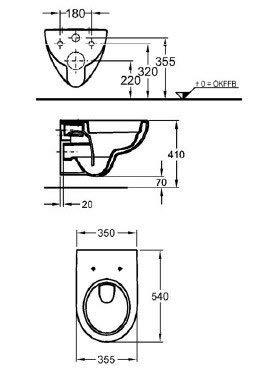 Keramag Renova Nr. 1 rimfree, Spülrandlos,Tiefspül-WC, inkl. Sitz und Beschichtung - 3