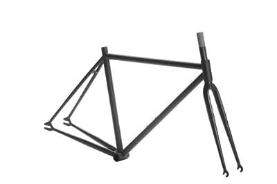 Pure Fix Original Fixed Gear Bicycle Frame Set, 50cm/Small, Matte Black