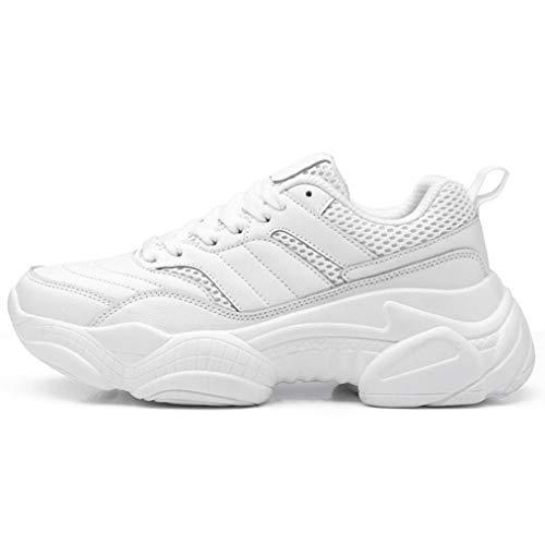 Dames Dikke Sneakers Ademende Mesh Platform Vulcaniseer Schoenen Lente Casual Veterschoenen Tennis Platte Sneakers