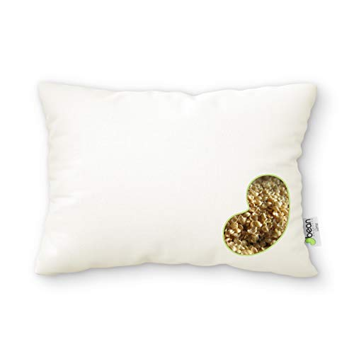 Bean Products WheatDreamz Standard Pillow - 20 x 26 - Organic Cotton Zippered Shell Filled with Organic Millet - Made in USA