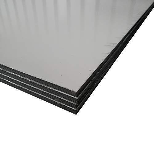 Alu-Verbundplatten Aluverbundplatte in verschiedenen Größen Weiss 6 mm stark Sandwich Platte (500x250mm)