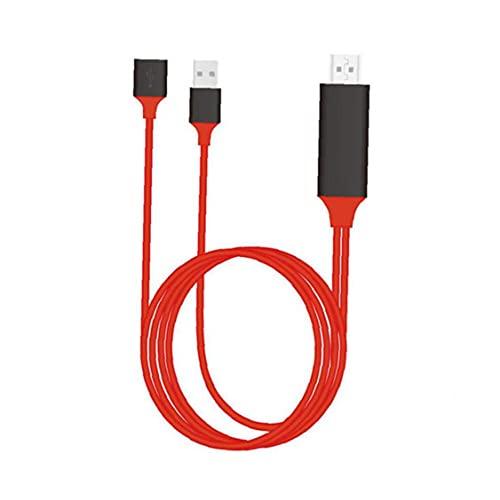 Cable HD 3in1 Teléfono a TV Mirror Cable Digital AV Adaptador Adaptador Compatible con Apple Android Red Communication Electronics