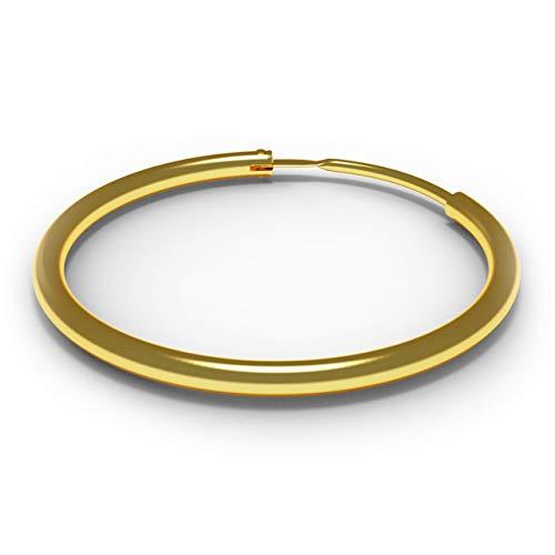 AZARIO LONDON 9K Solid Yellow Gold 5/16' (8MM) Diameter Segment Hoop Nose Ring Tragus Helix Piercing