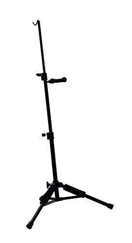 Classic Cantabile VS-10 Violinenständer Stativ für Violine Geige (3-Bein-Konstruktion, Bogenhalter, Einhängbügel und Auflagebeine gepolstert, Bügel mit Sicherheitsverschluss) schwarz
