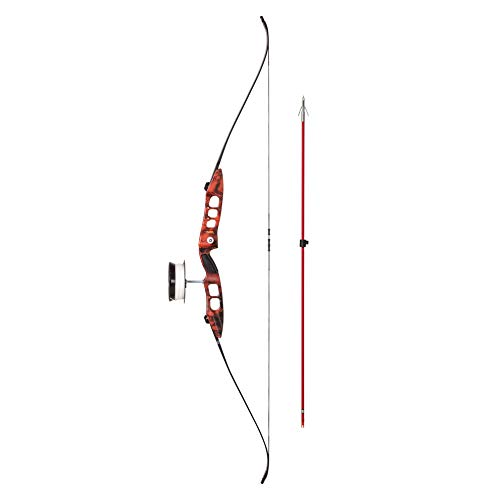 Cajun Fish Stick Take-Down Bowfishing Bow Set Includes Drum Reel with Line, Roller Rest, Arrow with Piranha Point, and Blister Buster Finger Pads