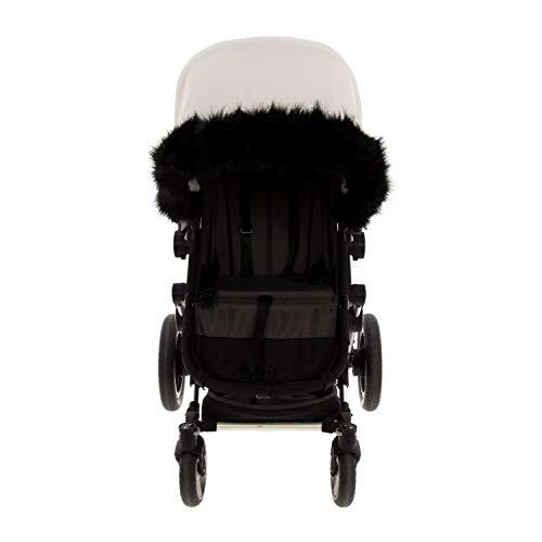 Boa para Silla o Coche de Paseo Universal Rosy Fuentes- Boa Carrito Bebé - Boa silla de paseo - Equipado para ser Ajustado perfectamente - Elaborado en Polar abullonado - Color negro