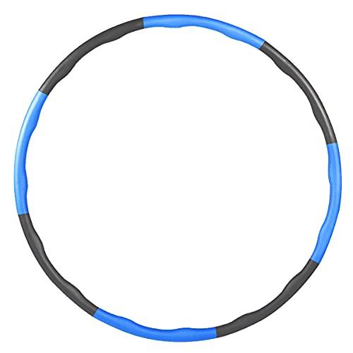 MXRLZX Ponderada del aro de Hula Diseño Ondulado Suave Espuma Cubierta, 6-8 sección Desmontable Ajustable Adelgaza Conjunto, de Cintura para Mantener Las pérdidas de Peso del Ejercicio de Ajuste