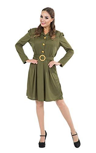 ORION COSTUMES Costume de déguisement des années 40 avec un uniforme de l'armée kaki de la Seconde Guerre mondiale