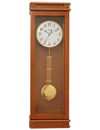 IG Bell-Wanduhr Metall Präzise 10-Zoll Retro Holz Handwerk Europäischen Stil Wohnzimmer Uhr Uhr Quarz Pendeluhr Handgemachte 1 X Aa Batterie (Nicht Enthalten)
