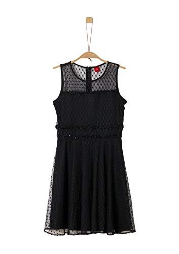 s.Oliver Mädchen 73.911.82.2997 Kleid, Schwarz (Black 9999), 152 (Herstellergröße:152/REG)