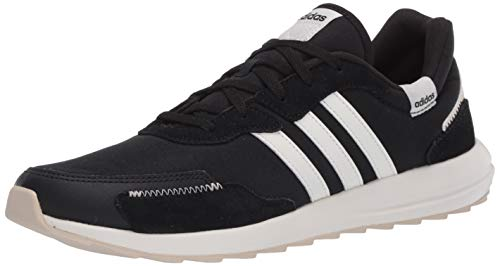 adidas Women's Retrorun Running Shoe, core Black/Cloud White/Alumina, 9 M US