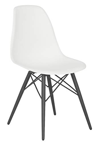 acamp Schalenstuhl New York trendigen Loftdesign anthrazit Weiss