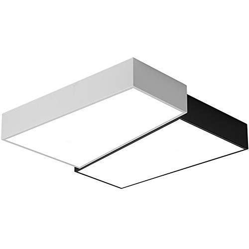 Slreeo Luz de techo creativa geométrica nórdica LED Lámparas empotradas ultra finas Arenciones de tres colores, lámparas de ahorro de energía ajustables se pueden usar en el dormitorio, equipo de ilum
