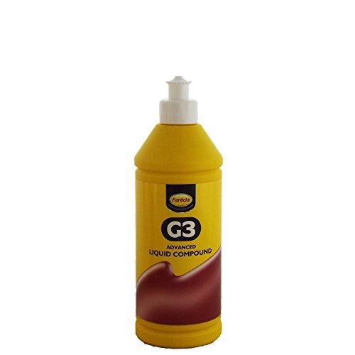 Compuesto líquido G3 Farecla, compuesto avanzado para eliminar pequeños arañazos y recuperar el color del coche, botella de 500ml