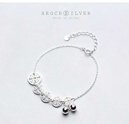 THTHT S 925 sterling zilveren armband mode vrouwen eenvoudige koper bel retro temperament sieraden creatief leuk lief persoonlijkheid verjaardagscadeau