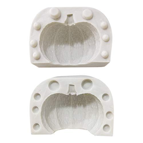 DAKIFENEY Molde de silicona para fondant de Halloween 3D, para decoración de tartas, chocolate, azúcares, etc