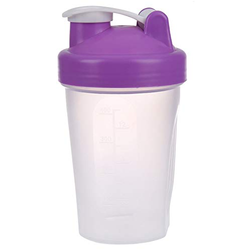 ytrew Protein Shaker Mixer Cup With Stainless Whisk Ball, Purple