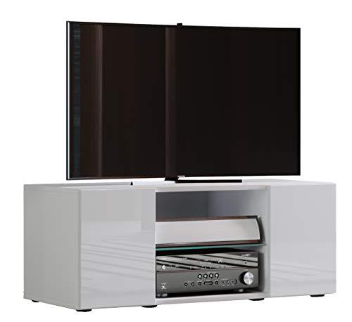 """VCM TV Lowboard Fernseh Schrank Möbel Tisch Holz Sideboard Medien Rack Bank Weiß 40 x 95 x 36 cm \""""Lowina\"""""""