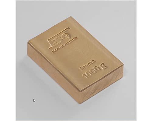 SEG 1kg Bronzebarren ESG 999 Investment Anlage Bronze