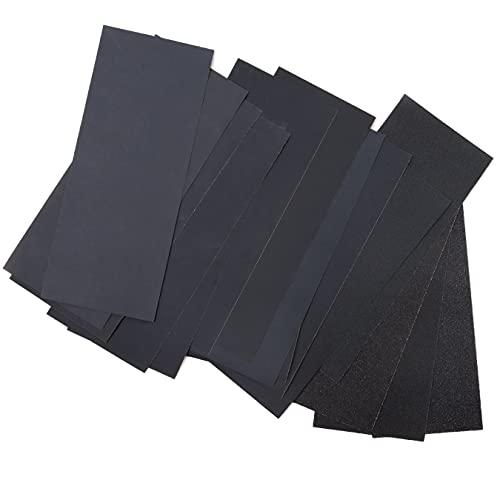 Profi Schleifpapier Set | 80 - 3000 Körnung, 45 Stück I Nass und Trocken I Schleifpapier für Auto, Holzmöbel, Stein, Lack, Metall, Glas