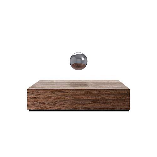 Flyte Buda Ball Levitating Magnetic Sphere, Floating Magic Home Decor… (Walnut/Chrome)