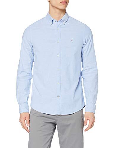Tommy Hilfiger Core Stretch Slim Oxford Camisa, Azul (Shirt Blue 474), Large para Hombre