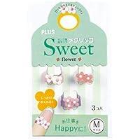 (まとめ) プラス メクリッコ Sweetフラワー2 M ホワイト・ローズ・ピンク KM-302SB-3 フラワ-2 M 1袋(3個:各色1個) 【×30セット】