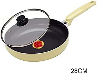 TYUIO Contemporary Hard-Anodized Aluminum Nonstick Cookware, Omelette Fry Pan, New Version (color : Beige)