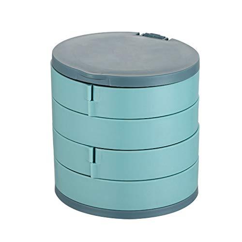 kexinda Schmuck Aufbewahrungsbox Plastikhalsketten-Behälter staubdicht 360 Grad Schmuck Organizer, Blau