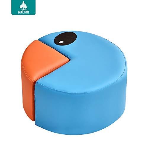Heces jardín de Infantes sofá en Forma de combinación de Cuero de Pequeño Taburete Cambiar Sus Zapatos de Dibujos Animados Lindo de la Serpiente de heces Mesa de café (Color: Naranja) Hslywan