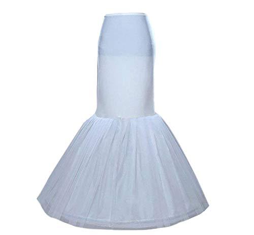 SISJULY Women s Underskirt Trumpet Mermaid Wedding Petticoat Slips for Bridal (Ivory  One Size)