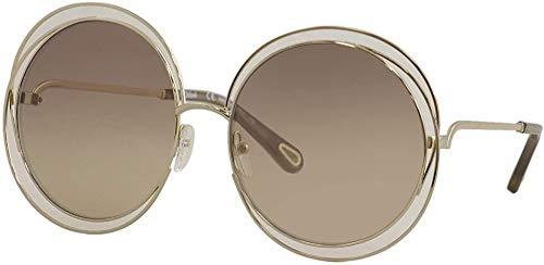 Chloe CE114SD Metall-Sonnenbrille Gold/Transp Brown/Grad Flash B Unisex Erwachsene, mehrfarbig, Standard