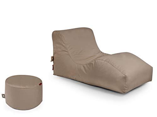 Outbag 2er Set Sitzsack Wave mit Rock l Gartenliege l Mud