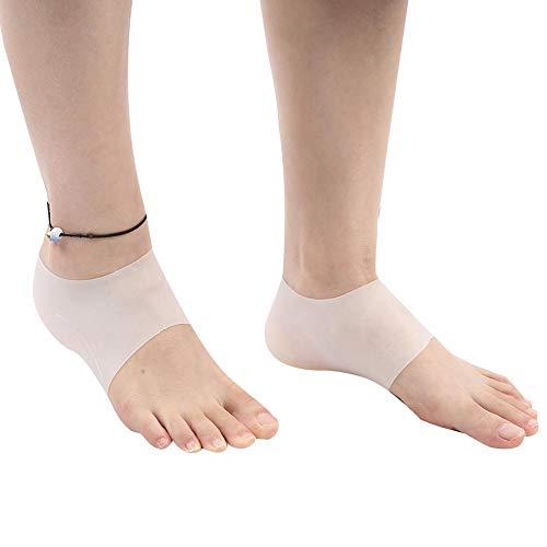 Almohadillas de elevación del talón, Fundas de cojines de gel para el talón para hombres y mujeres Incremento de altura, Plantillas de silicona para el talón Herramienta para el cuidado de los pies