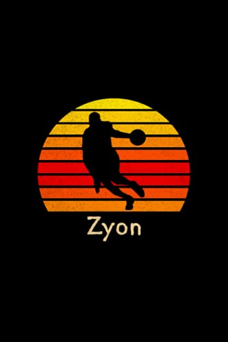 Zyon Name Gift Personalized Basketball Notebook Planner, To Do List Journal for Sport Lovers: Daily Journal, Personalized, Mom, 120 Pages, A5, 6x9 ... 5.24 x 22.86 cm, Pretty, High Performance