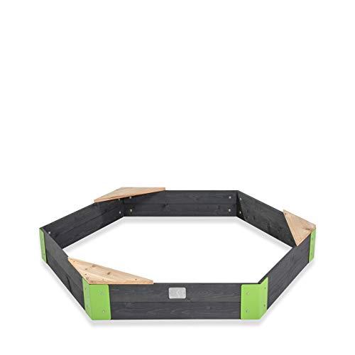 EXIT Aksent Holzsandkasten sechseckig / Material: Zedernholz / 160 x 140 x cm / Gewicht: 9 kg / für Kinder ab 3 Jahren geeignet