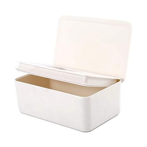 DealMux Soporte para dispensador de toallitas húmedas Caja de almacenamiento de pañuelos con tapa para el hogar Soporte para dispensador de toallitas húmedas de negocios Blanco