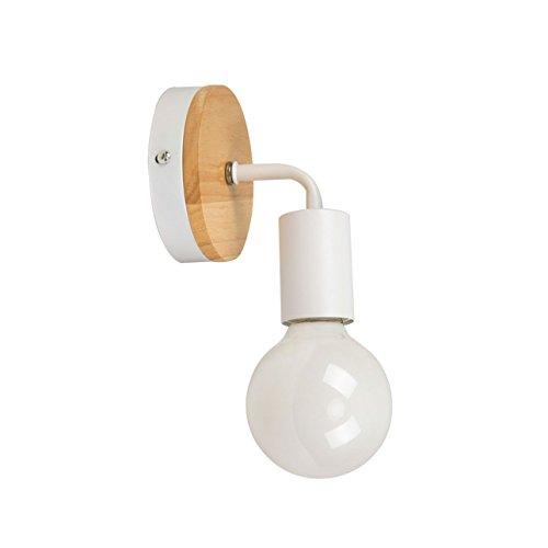 OYGROUP Moderno creativo de madera Vintage lámpara de pared de hierro forjado...