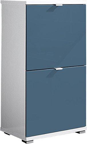 Germania 3-tlg. Schuhschrank-Set 8484-193 Colorado in weiß/petrol, 53 x 91 x 30 cm (BxHxT)