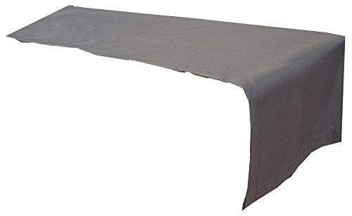 Beo Outdoor tafelkleden waterafstotende tafelloper, hoekig, 120 x 45 cm, antraciet
