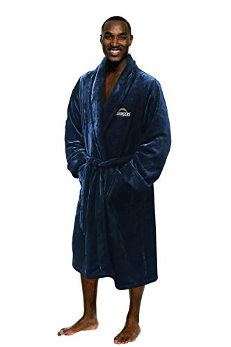 Officially Licensed NFL Men's Silk Touch Lounge Robe, Los Angles Chargers