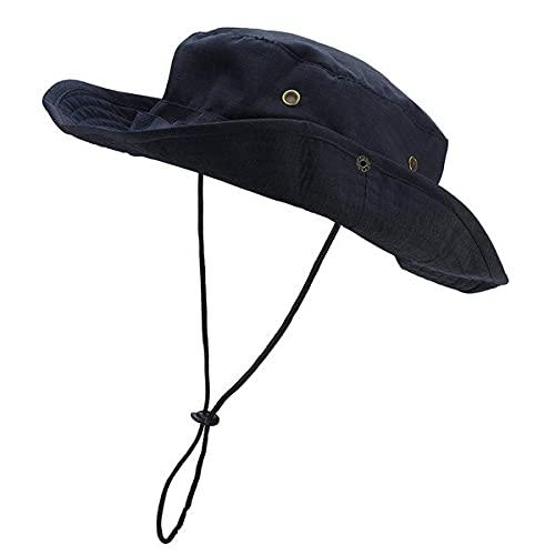 Sombrero al Aire Libre Sombreros de Pesca Anchos Protección UV Sombrero Plegable Sombreros de Verano de...