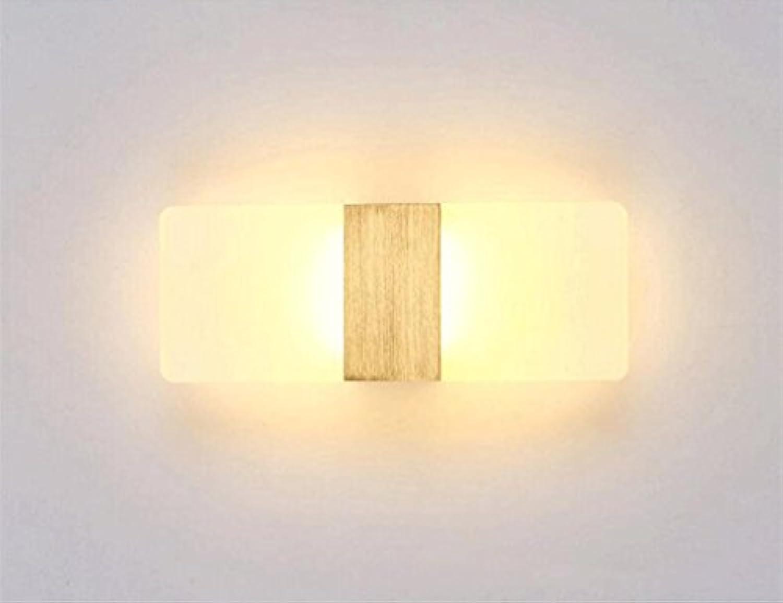 WTL Lighting LED Auf und Ab Licht Einfache Mode Schlafzimmer Gang Wohnzimmer Nachttischlampe Spiegel Lampe Wandleuchte (Farbe   Warmes Licht-40  16cm)