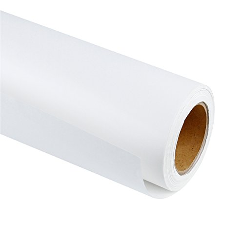 RUSPEPA Weiß Kraftpapier - Natürliches Recyclingpapier, Kraftpapierrolle Ideal für Kunsthandwerk, Kunst, Kleine Geschenkverpackungen, Verpackung, Post, Versand und Pakete - 91.4 cm x 30 m