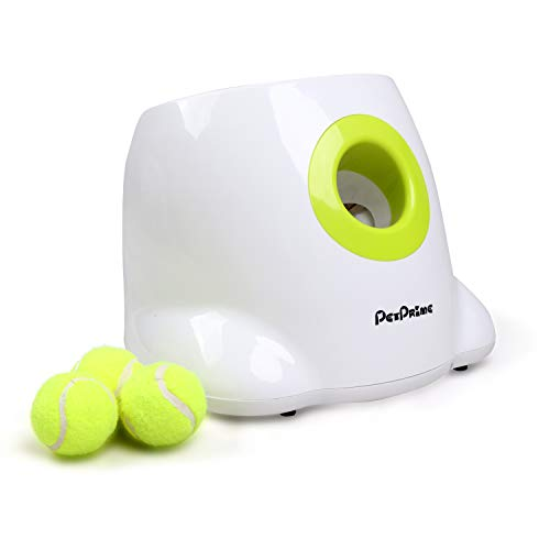 Pet Automatic Ball Launcher Dog Interactive Toy Dog Fetch Toy Pet Ball Thrower Machine 3PCS x 2'' Tennis Balls Included Mini