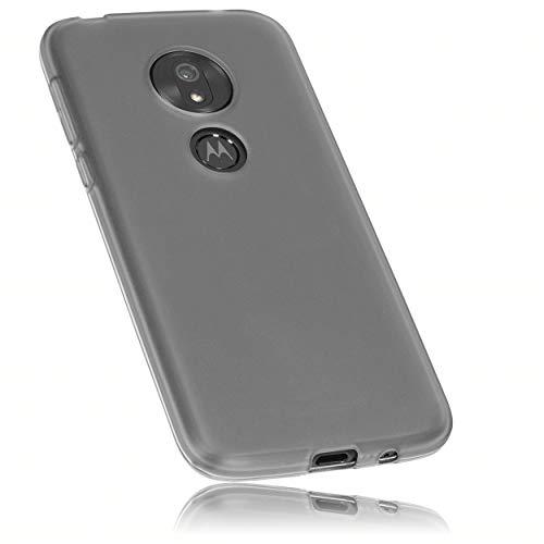 mumbi Hülle kompatibel mit Motorola Moto G7 Play Handy Hülle Handyhülle, transparent schwarz