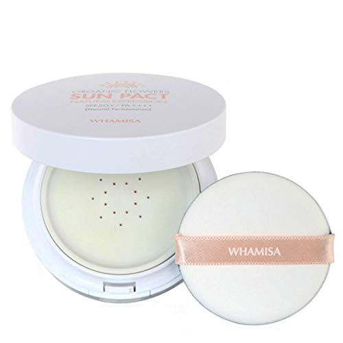 WHAMISA Organic Flowers Organic Flowers Natural Expression Sun Pact, K-Beauty